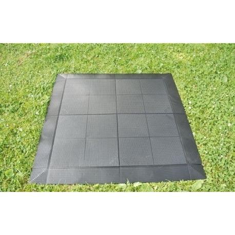 Tegels 50x50 Antraciet.Voortent Tegels Tenttegels Evo Floor 500 50x50 Cm