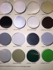 Ronde afdekzeilen: kleuren maatwerk