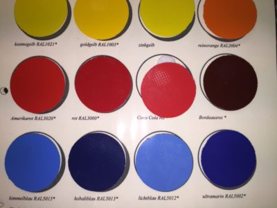 Kleuren maatwerk